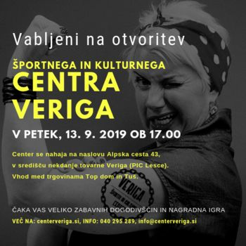 Otvoritev - CENTER VERIGA