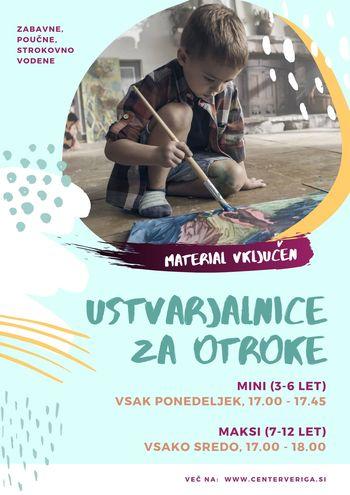 VPIS - Ustvarjalne delavnice za otroke!