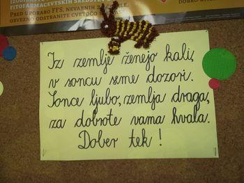 Tradicionalni slovenski zajtrk na OŠ Kanal