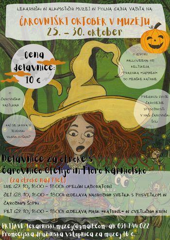 Čarovniški oktober v Lekarniškem in alkimističnem muzeju
