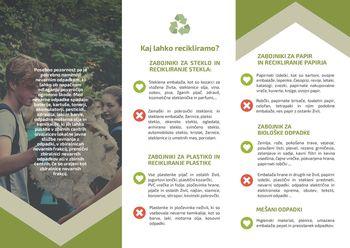 V okviru projekta »Očistimo celjske hribe« izdali brošuro o recikliranju