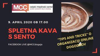 Spletna kava s Sento o organizaciji online dogodkov