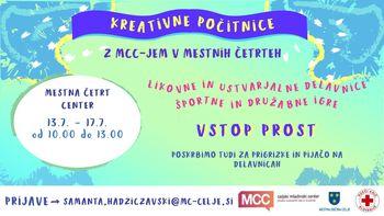 MCC-jeve kreativne počitnice v Mestni četrti Center