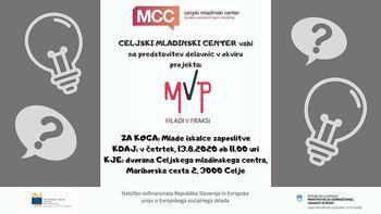 Predstavitev projekta MVP - Mladi v praksi