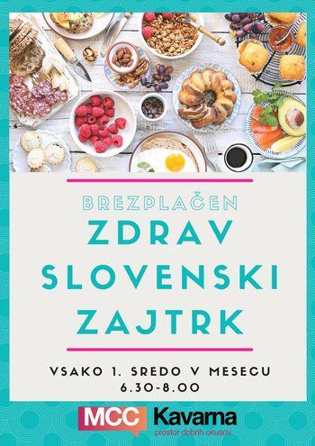 Brezplačen zdrav slovenski zajtrk