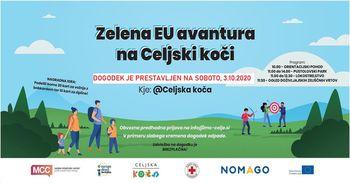 Zelena EU avantura na Celjski koči - PRESTAVLJENO!
