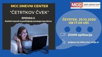 MCC dnevni center: Četrtkov čvek - Koristni nasveti za preživljanje prostega časa
