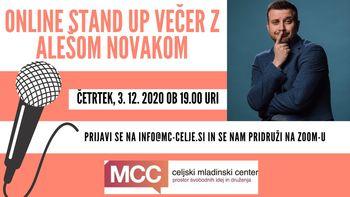 Online Stand up večer z Alešom Novakom
