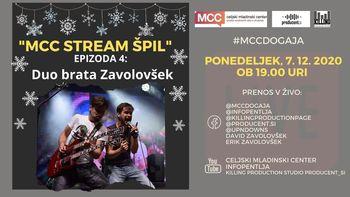 MCC stream ŠPIL - Duo brata Zavolovšek