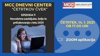 MCC dnevni center: Četrtkov čvek - Novoletne zaobljube, želje in pričakovanja v letu 2021