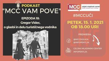 MCC vam pove: Podkast z Gregorjem Vidcem