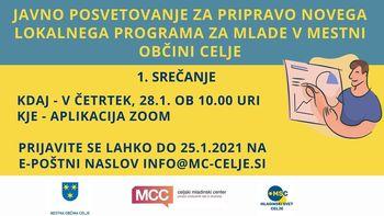 Javno posvetovanje za pripravo novega lokalnega programa za mlade v MOC 1.srečanje