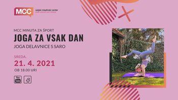 Joga delavnice s Saro: joga za vsak dan