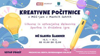MCC-jeve kreativne počitnice v Mestni četrti Slavko Šlander