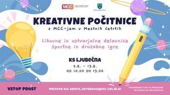 MCC-jeve kreativne počitnice v KS Ljubečna