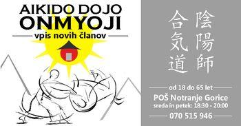 Aikido Dojo Onmyoji - vpis novih članov