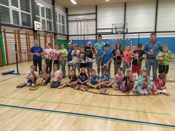 Mlade igralce tenisa iz Kluba Krmelj je obiskal Božiček