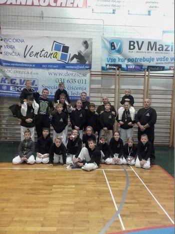 1. krog slovenskega pokala v JU JITSU, nastop mladih iz Ippona