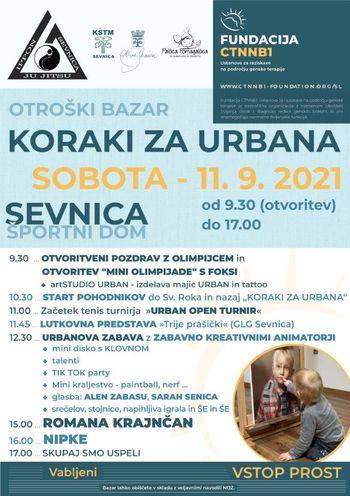 KORAKI ZA URBANA, Otroški bazar v Sevnici