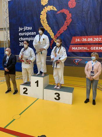 Nina PIŠKUR, reprezentantka DBV IPPON, na EP v ju jitsu bronasta