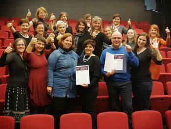 Zlato priznanje ŽPZ Biser na regijskem tekmovanju odraslih pevskih zasedb 2019