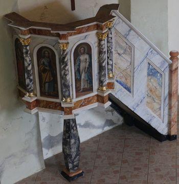 Obnovljena prižnica pri Šmohorju