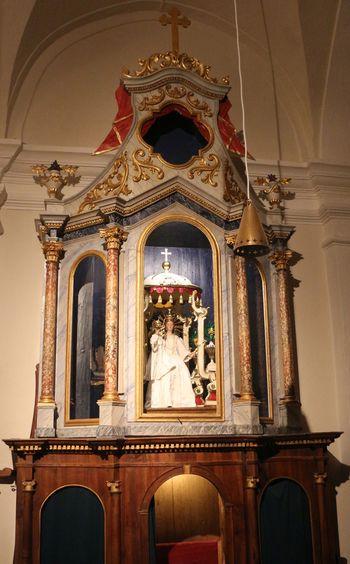 Obnovljena omara v cerkvi Imena Marijinega na Sveti Planini
