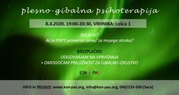 PLESNO-GIBALNA PSIHOTERAPIJA - predstavitev, vprašanja in gibalno izkustvo!