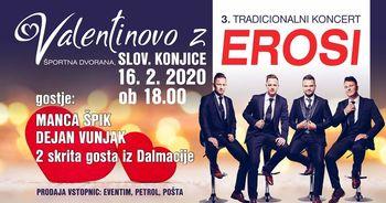 VALENTINOVO z EROSI, Manco Špik, Dejanom Vunjakom in dvema gostoma presenečenja iz Dalmacije