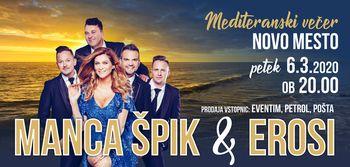 Mediteranski večer z Manco Špik in Erosi