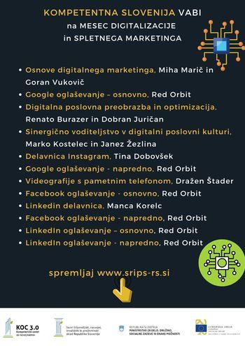 Cikel brezplačnih delavnic za podjetnike - »Kompetentna Slovenija«