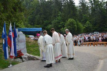 Blagoslov znamenja sedmih žrtev iz Zaklanca