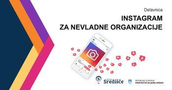 Instagram za nevladne organizacije, spletna delavnica