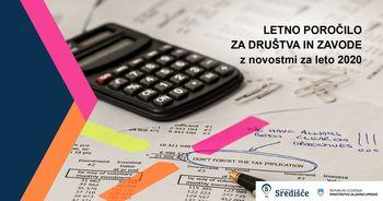 Delavnica priprave letnega poročila za društva in zavode z novostmi za leto 2020