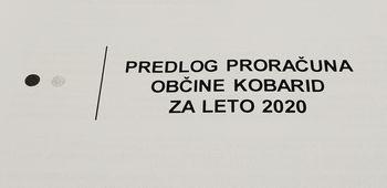 V javni obravnavi je predlog Proračuna Občine Kobarid za leto 2020