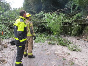 Neurje z močnim vetrom in padavinami prizadelo tudi Kobariško občino