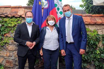 Pogovori župana z ministrom za infrastrukturo Jernejem Vrtovcem