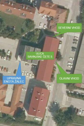 Obvestilo uporabnikom storitev Občinske uprave Občine Žalec