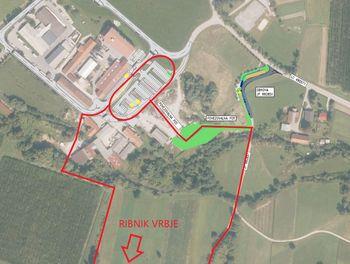 Dostop do Ribnika Vrbje v času gradnje komunalne infrastrukture