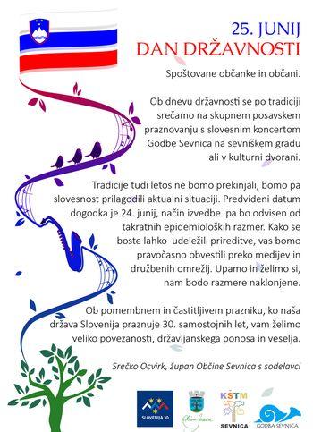 Sveniško grajsko poletje 2021,Skupno posavsko praznovanje dneva državnosti s koncertom Godbe Sevnica