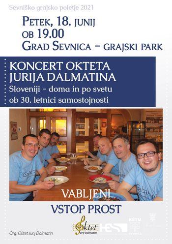 Sevniško grajsko poletje 2021, Koncert Okteta Jurija Dalmatina