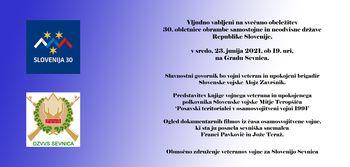 Sevniško grajsko poletje 2021, Proslava ob 30-letnici samostojne Slovenije