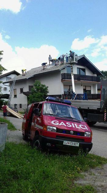 V Črnomlju pomagali tudi gasilci iz GZ Horjul