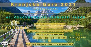 Osnovnošolski planinski tabor KRANJSKA GORA 2021