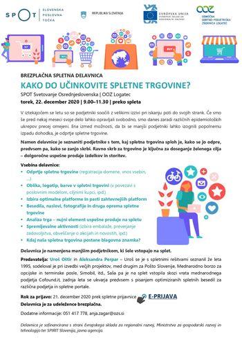 Brezplačna spletna delavnica: Kako do učinkovite spletne trgovine?