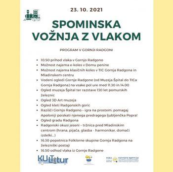 Program v Gornji Radgoni ob spominski vožnji z vlakom