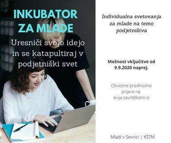 ODPOVEDANO: Inkubator za mlade