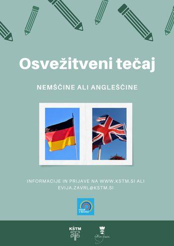 Osvežitveni tečaj nemščine ali angleščine