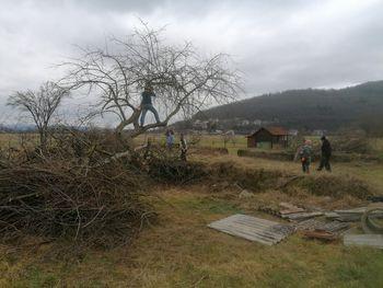 Delovna akcija na Dolu pri Borovnici – Društvo dolanskih fantov