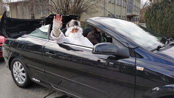 Dedek Mraz na zadnji dan leta obiskal Občino Žalec